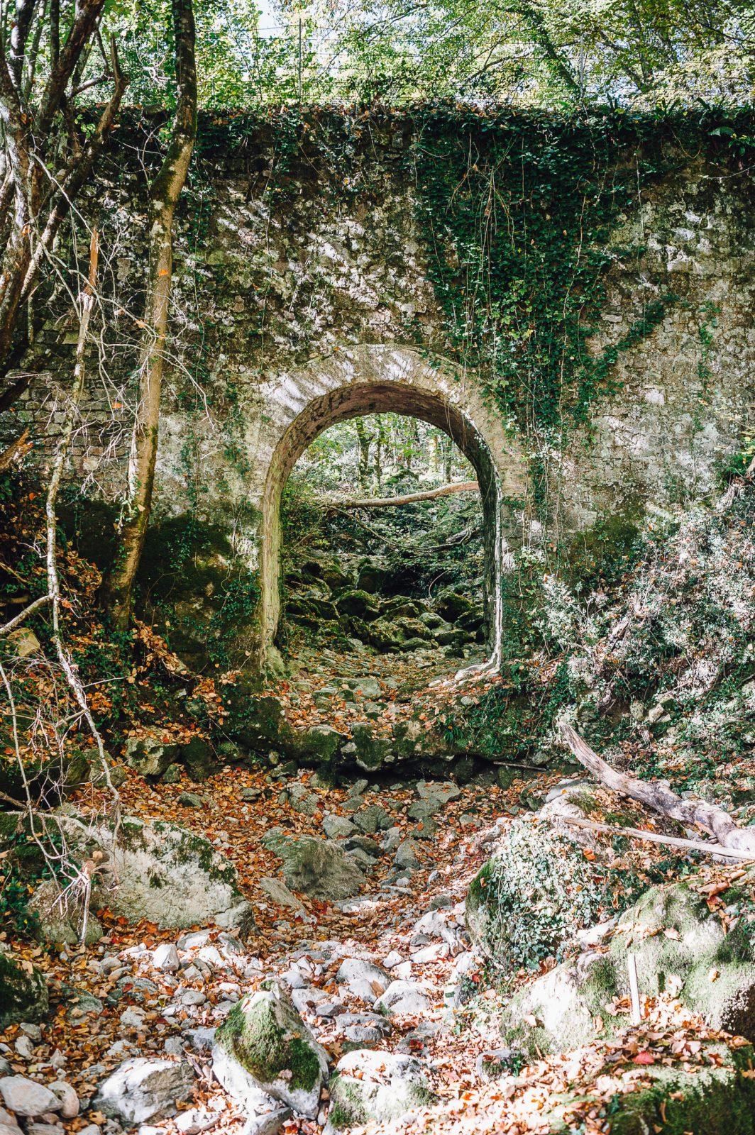 Il ponte dell'acquedotto che attraversa il fosso di Fogliano – Valle delle Cannuccete – MuDi Castel San Pietro Romano