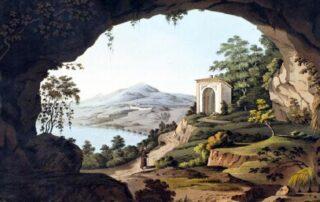 Veduta dalla grotta del convento dei Cappuccini ad Albano Laziale