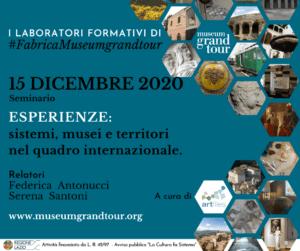 #FabricaMuseumGrandTour 15 dicembre 2020